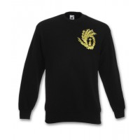 Black Sweatshirt with Embroidered Liturgix Emblem