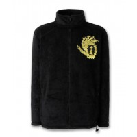Black Full Zip Fleece Jacket with Embroidered Liturgix Emblem