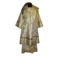Metallic-Brocade Set of Bishop's Ecclesiastical Vestments
