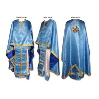 Silk-Brocade Set of Greek-Style Priestly Vestments