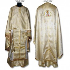 Metallic-Brocade Set of Greek-Style Priestly Vestments