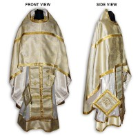 Metallic-Brocade Set of Russian-Style Priestly Vestments