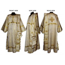Metallic-Brocade Set of Deaconate Vestments (with Single-Length Orarion)