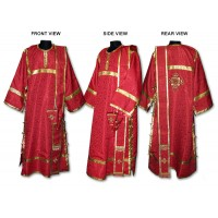Silk-Brocade Set of Deaconate Vestments (with Single-Length Orarion)