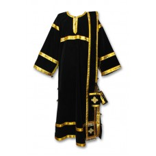 Velvet Set of Deaconate Vestments (with Single-Length Orarion)