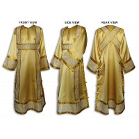 Silk-Brocade Set of Subdeaconate Vestments (with Buttoned Side Seams)