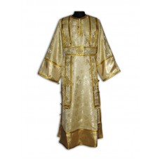 Metallic-Brocade Set of Subdeaconate Vestments (with Buttoned Side Seams)
