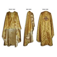 Metallic-Brocade Greek-Style Priestly Phelonion