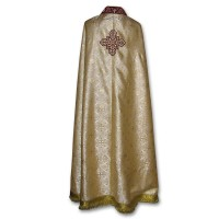 Metallic-Brocade Coptic-Style Priestly Phelonion (Phanolion)