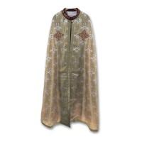 Silk-Brocade Coptic-Style Priestly Phelonion (Phanolion)