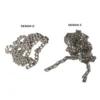Nickel-Plated Chains for Pectoral Cross (SET OF THREE)