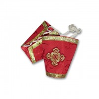 Silk-Brocade Liturgical Set of Cuffs (Epimanikia)