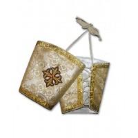 Metallic-Brocade Liturgical Set of Cuffs (Epimanikia)