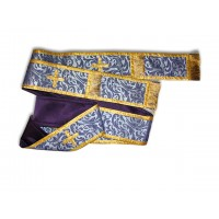 Silk-Brocade Double-Length Archdeacon's Orarion