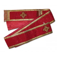 Silk-Brocade Single-Length Deaconate Orarion
