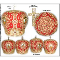Bishop's Miter with Four Hand-Painted Icons