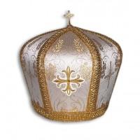 Metallic-Brocade Bishop's Mitra (Crown)