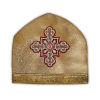 Silk-Brocade Coptic-Style Priestly Miter